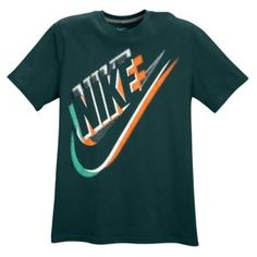 Nike Graphic T-Shirt - Men's - Dark Atomic Teal/Orange/White