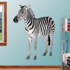 Zebra to the wall, realistic