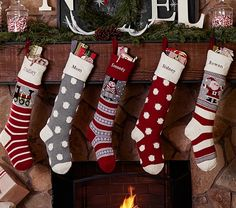 Natural Fair Isle Stocking Collection | Pottery Barn Kids--ahhh I get to order my little a stocking this year :)