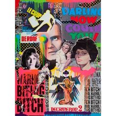 Darling How Could You! SHUBY Original Film posters, mixed media & varnish on plywood board 122 x 91 x 5 cm