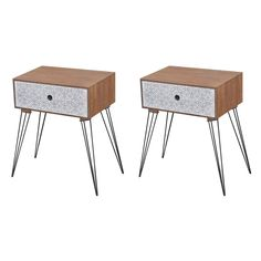 Desks | Keen 3 Drawer Bedside Table, Bedside Cabinet, Nightstand, Bedside Tables, White Quartz Counter, Support Telephone, Side Table With Storage, Portable Table, Large Drawers