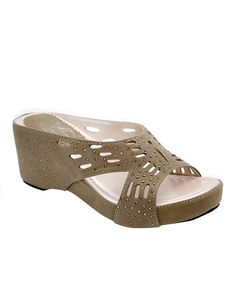 Loving this Nude Stud Sandal on #zulily! #zulilyfinds
