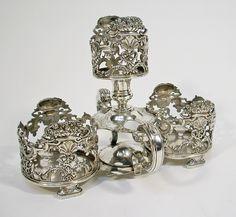 Zilveren flessenhouder, Hendrik Swierink, Amsterdam 1759