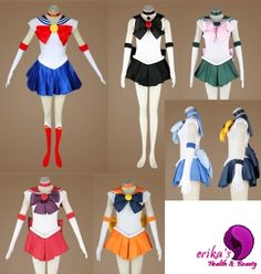 Sailor Moon Cosplay Costumes... I want all of these :)