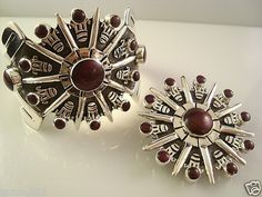 William Spratling Design Taxco Mexican Sterling Silver Rosewood Bracelet and Brooch. Mexico | eBay