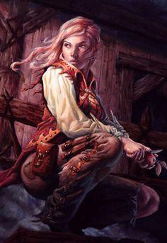 half-elf woman pirate ginger