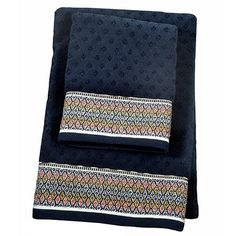 Foulard Border Hand Towel - Navy - Threshold™ : Target