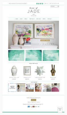 House of Jade Interiors Website Design | by www.octoberink.com