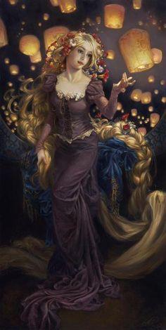 Princesas Disney como pinturas al óleo - Imagui
