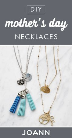 How To Make Mother's Day Necklaces Diy Mother's Day Necklace, Tassel Necklace, Pendant Necklace, Necklaces, Mother's Day Projects, Mother's Day Diy, Necklace Online, Joanns Fabric And Crafts, Step By Step Instructions