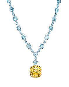 Tiffany's iconic yellow diamond.
