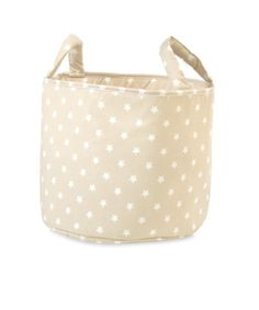 Mothercare Fabric Storage Basket- Beige Stars - toy boxes & storage - Mothercare