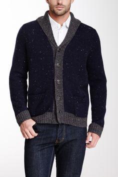 Cullen Contrast Trim Donegal Wool Blend Cardigan on HauteLook