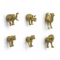 Golden Animal Magnets --good way for me to use those extra animals leftover from my ornaments and gift bows!