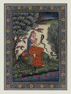 Indian painting Ragini Asavari