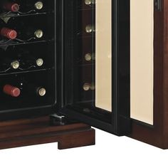 Amalfi Madison Wine Cabinet Cooler Refrigerator In Rose