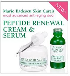 Freebie of the Day for January 29: FREE Sample of Mario Badescu Peptide Renewal Serum and Peptide Renewal Cream