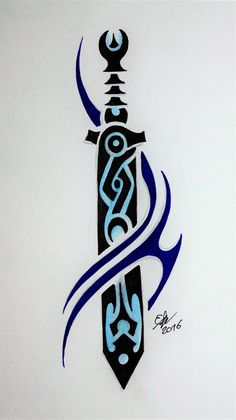 Shen Ghost Sword by Esmeekramer on DeviantArt League Of Legends Jhin, League Of Legends Characters, Tattoo Sketches, Art Sketches, Make Temporary Tattoo, Sword Design, Tribal Tattoos, Tatoos, Tattoo You