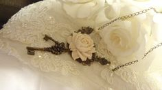 Key Assemblage Necklace  Mori Girl Shabby by BerthaLouiseDesigns, $32.95