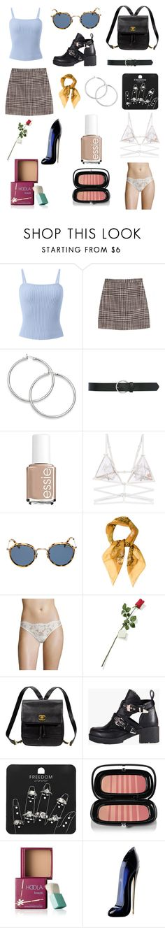 """90's Babe"" by lauranikolla on Polyvore featuring Missoni, M&Co, Essie, For Love & Lemons, Eyevan 7285, Salvatore Ferragamo, La Perla, Hanky Panky, Kate Spade and Refresh"