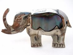 Mexican Sterling Silver Elephant Brooch Inlay Ablalone Shell Vintage Taxco Pin   Jewelry & Watches, Vintage & Antique Jewelry, Fine   eBay!