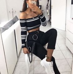 Off-white Belt fashion, style, and outfit Street Style Outfits, Fall Outfits, Summer Outfits, Casual Outfits, Cute Outfits, Fashion Killa, 90s Fashion, Fashion Outfits, Womens Fashion