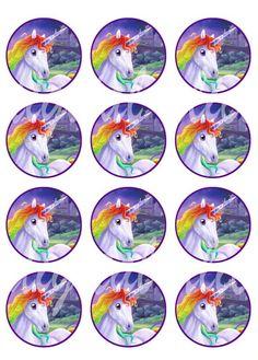 Bottle Cap Crafts, Bottle Caps, Rainbow Unicorn, Unicorn Party, Stock Image Websites, Circle Crafts, Unicorn Crafts, Bottle Cap Images, Unicorn Print