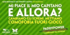 Paddy Power contro l'omofobia: 'Mi piace il mio capitano, e allora