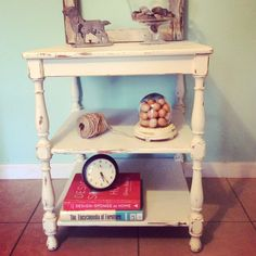 Off white chalk paint by Ginger's Girl. Table purchased off Facebook.