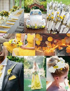 #Buttercup #Wedding #Styling Ideas Mood Board from The Wedding Community