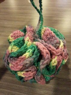 Bath poof ~tutifruity~ double crochet