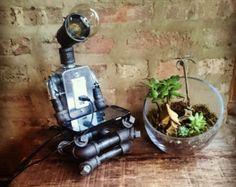 El soñador de díaTubería Industrial Robot lámpara