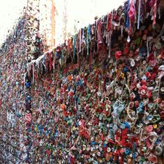 Gum wall in Seattle. So gross but so cool at the same time