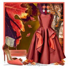 """Autumn Duchess (Zac Posen)"" by theseapearl ❤ liked on Polyvore featuring Zac Posen, Flora Bella, Aquazzura, autumn2015 and zacoiseb"