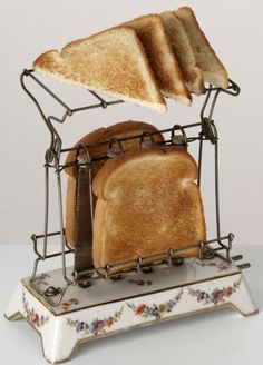 During the Victorian era, many new time-saving devices were designed to run on the brand-new energy source; For the first time,. Vintage Appliances, Small Kitchen Appliances, Kitchen Utensils, Victorian Kitchen, Vintage Kitchen, Vintage Dishware, Victorian Era, Vintage Toaster, Electric Toaster