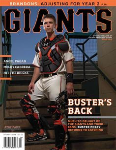 GIANTS MAGAZINE (April 2012).  Back in April, who knew Buster Posey would win another World Series, the ML batting title, AND the NL MVP award?  (OK, I actually knew all this and I TRIED to tell people, but no one would believe me.)