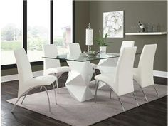 If you're sure you're ready for it, the Coaster Furniture Ophelia Double Pedestal Rectangle Dining Table may be the statement table you've. Double Pedestal Dining Table, Rectangle Dining Table, Contemporary Dining Table, White Dining Chairs, Leather Dining Chairs, Glass Dining Table, Dining Table In Kitchen, Dining Tables, Contemporary Style