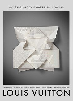 Louis Vuitton – Invitation Origami by Happycentro , via Behance