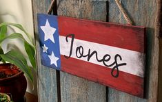 Celebrate your patriotism with this rustic flag plaque! Great for holidays or all year round! Star Stencil, Letter Stencils, Tape Painting, Digital Coupons, Gift Card Balance, General Crafts, Dollar General, New Sign, Fourth Of July