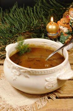 zupa grzybowa z suszonych grzybów_zupa wigilijna_kuchnia mazowiecka_przepisy na Wigilię_rodzinkawkuchni.blox.pl