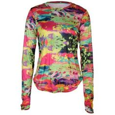 Gotta have this super fun running top!!!!    I think i found my mothers day gift =)   ASICS® Long Sleeve Running T-Shirt - Womens - Kaleidascope