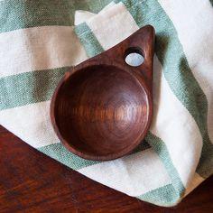 Hand Carved Walnut Scoop