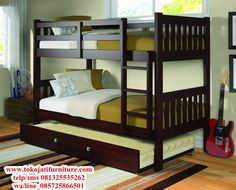Get the most out of your space with our twin over twin modern bunk beds in a dark cappuccino finish. This bunk bed features solid pinewood construction with optional under-bed storage drawers or a twi Bunk Beds With Drawers, Bunk Beds With Storage, Bunk Bed With Trundle, Cool Bunk Beds, Bunk Beds With Stairs, Twin Bunk Beds, Kids Bunk Beds, Bed Storage, Storage Drawers