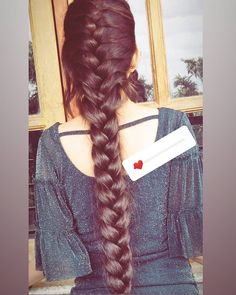 French Braid Hairstyles, Indian Hairstyles, Braided Hairstyles, Cool Hairstyles, Long Thick Hair Hairstyles, Long Indian Hair, Very Long Hair, Braids For Long Hair, Beautiful Long Hair