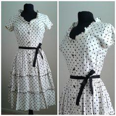 DARLING 50's POLKA DOT Vintage Dress / by Joannesvintagecloset
