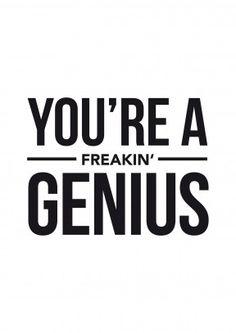 You're A Freakin' Genius| Congratulations Card   A brilliant congratulations…