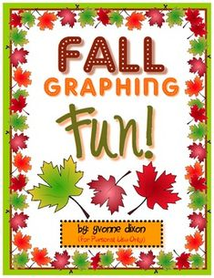 Free Fall Graphing Fun! Your students will have fun spinning and graphing four different types of fall leaves with this freebie center for math.