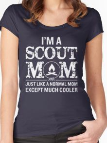 931703f7 scout mom Women's Fitted Scoop T-Shirt Girl Scout Logo, Girl Scout Troop,