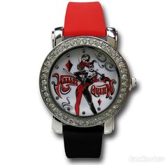 Harley Quinn Diamond Watch with Silicone Band