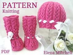 Knitting PATTERN Baby Booties Baby Shoes Patterns Knit Baby
